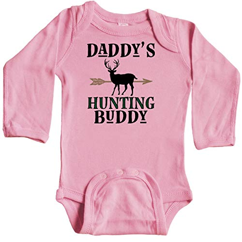 Sports Bodysuit Hunter Infant (inktastic - Daddy Hunting Buddy Bow Long Sleeve Creeper Newborn Light Pink 31de2)