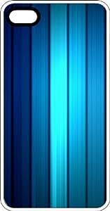 Illuminated Blue Strips White Plastic Case for Apple iPhone 6