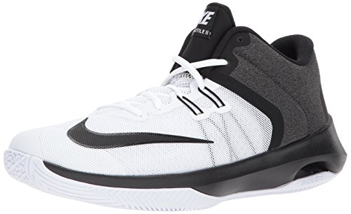 NIKE Men's Air Versitile II Basketball Shoe, White/Black, 11.0 Regular US