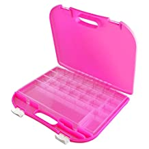 Dexas Loom Storage Lap Case, Pink/White