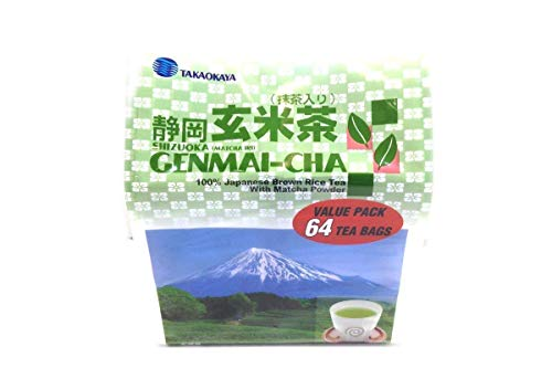 Shizuoka Matcha Genmai-cha (100% Japanese Brown Rice Tea (Pack of 1)