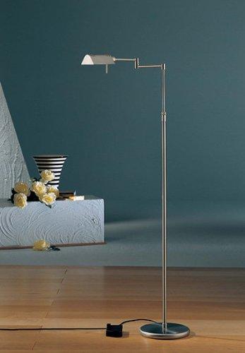 Holtkotter Satin Nickel Floor Lamp - Holtkoetter 6317 SN Classic Halogen Floor Lamp, Satin Nickel