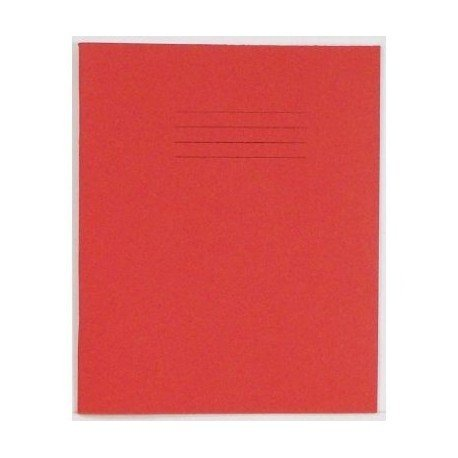 SCHOOL EXERCISE BOOKS RED COVER 8mm LINES A5 48 Page 165 x 203mm '25 Pack'