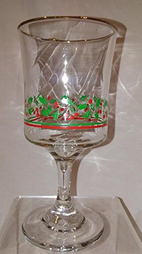 holly-berries-holiday-water-glass-arbys-christmas-glass-collectible-arbys-christmas-holly-and-berrie