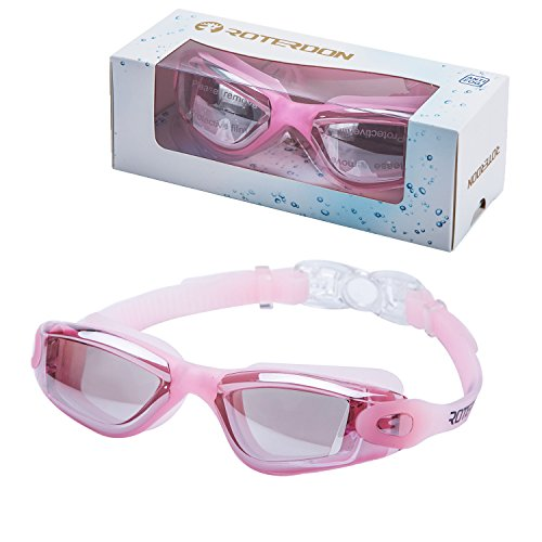 Swimming Goggles Girls, Roterdon Swim Goggles Adults Anti Fog Water Proof Kids Eyes UV Protection Mirrored Racing Water Goggle For Men Women Children Youth Junior From Swim On Line - Caps Swimming In Stores