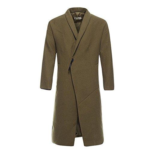 chaqueta viento y paño de lana otoño China invierno abrigo invierno Slim de largo Brown de el M El macho abrigo 1zqwB