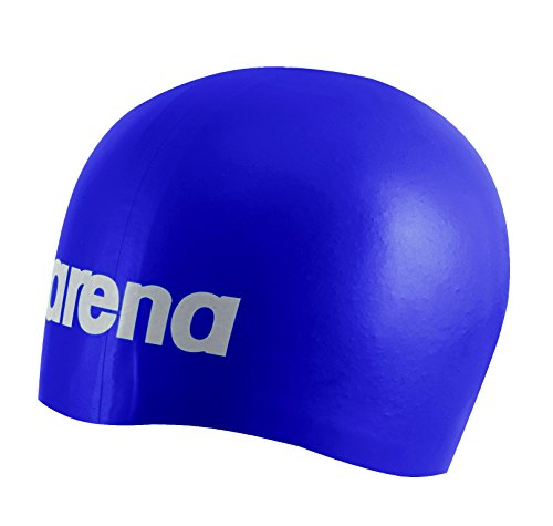 Arena Moulded Silicone USA Cap, Bright Violet/White, One Size