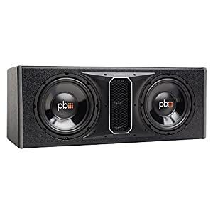 "Powerbass Powerbases 10"" Dual Subwoofer Enclosure Sound System (PSWB102)"