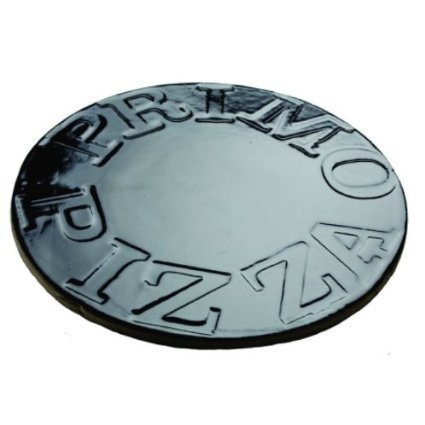 Primo 338 Porcelain Glazed Pizza Baking Stone for Primo Oval XL or Kamado Grill by Primo