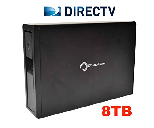 8TB DVRdaddy External DVR Hard Drive Expander For DirecTV HR34, HR44, and HR54 Genie DVR. +8,000 Hours Recording Capacity! by DVRdaddy