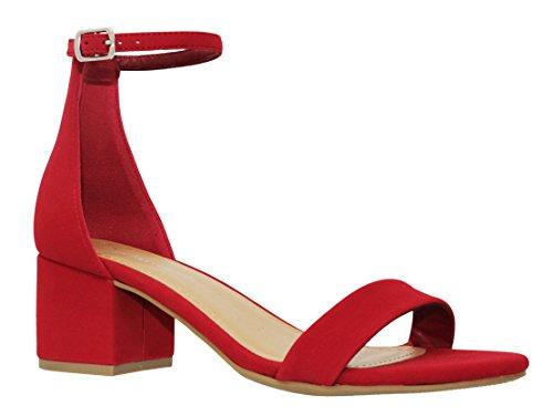 MVE Shoes Women's Chunky Block Heel Dress Sandal Over Toe & Ankle Wrap Strap, Lips Nb 10