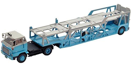 1/64 TLV-N89c 日野HE366 カートランスポーター アンチコ ASZ022 車両運搬トレーラ ホンダ・エクスプレス(グレー×ブルー) 「トミカリミテッドヴィンテージNEO」 261568