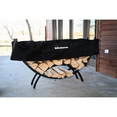 Steel Crescent Log Rack Size: 36'' H x 60'' W x 15'' D by Woodhaven