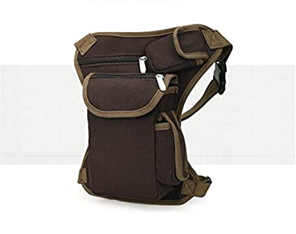 6c32207015bb Image Unavailable. Image not available for. Colour  Generic Coffee    Maphissus Hot Sale Men s Multifunction Outdoor Cotton Sport Leg Bag Canvas  ...