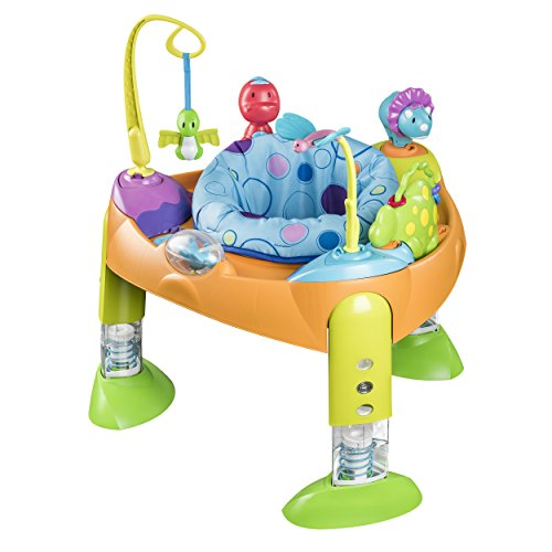 evenflo-exersaucer-fold-and-go-bounce-a-saurus-orange-blue-yellow-green