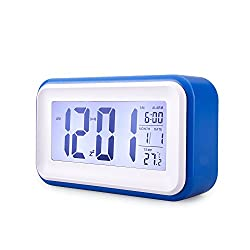 MECO Digital Alarm Clock with Adjustable Nap Time with Date/Time/Temperature Display, Large Screen, Snooze, Night Light Function