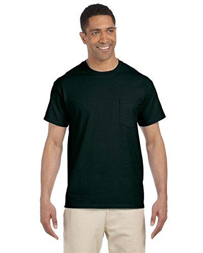 Ultra Cotton Pocket T-Shirt G230 -FOREST GREEN M (100% Cotton Womens Tee)