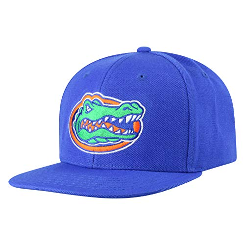 Top of the World NCAA Men's Flat Brim Snap Back Team Icon Hat, Florida Gators Royal, Adjustable