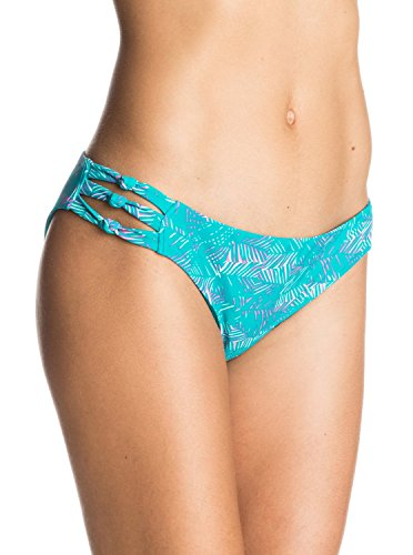 Roxy Junior's Dreamin' Florida Knotted 70's Bikini Bottom, Jungle Zig Zag Combo Dark Jade, X-Small