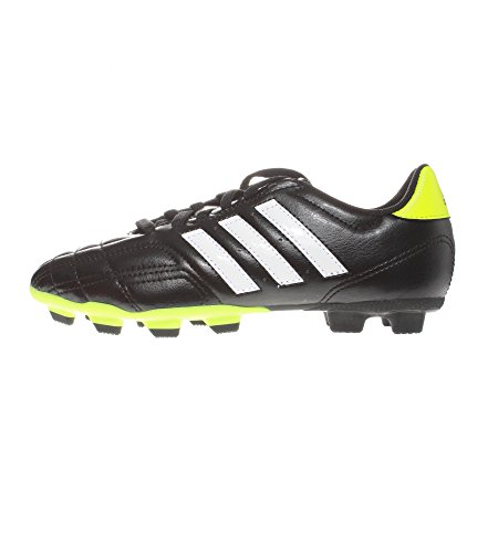 Adidas Chaussures Garçon Kids/Boys Football Boot Goletto IV TRX FG Boys Junior Kids Soccer Boots Black/Lime U.K. Sizes 13.5, 2.5, 3,3.5, 4, 4.5, 5.5 New Q33538