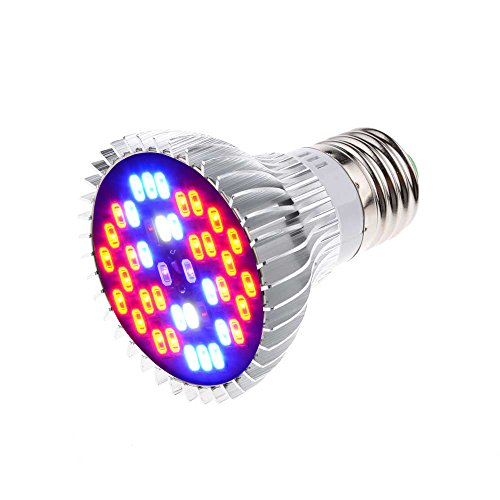 Yi-Create 9W Full Spectrum LED Plant Grow Light Bulb AC110V 40LEDs High Power SMD5730 Chip Aluminum alloy radiator Red Blue White IR UV Ray For Plant Growth and Flowering Results (1PCS/Pack)