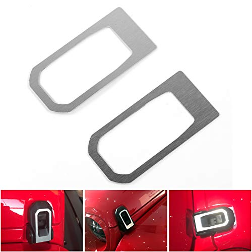 Artudatech 2PCS Aluminum Car Engine Hood Hinge Cover Trim For Jeep Wrangler JL 2018+ SIL