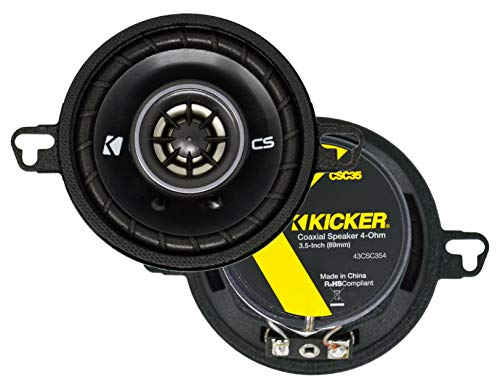 Kicker 43CSC354 CSC35 3.5-Inch Coaxial Speakers - 4-Ohm (Original Version)