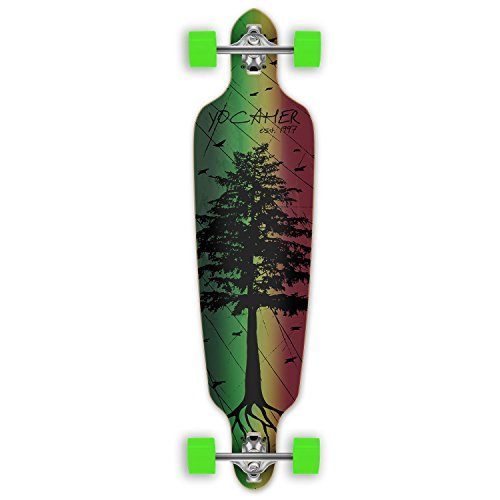 in The Pines Rasta Longboard Complete Skateboard – Available in All Shapes