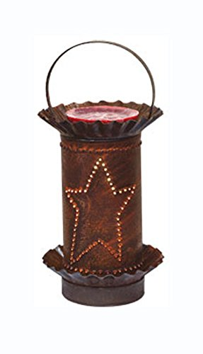 Rusty Punched-Tin Star Mini Melt Warmer - Country Rustic Primitive Tart Burner Home Lighting Decor