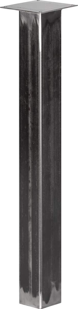 1 St/ück Tiefschwarz Quadratrohr 80x80 mm HOLZBRINK Tischbein Eckig HLT-14A-J-72-9005 H/öhe 72 cm