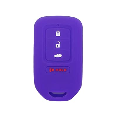 SEGADEN Silicone Cover Protector Case Skin Jacket fit for HONDA 3+1 Hold Button 4 Buttons Smart Remote Key Fob CV4210 Deep Purple: Automotive