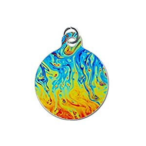 Colorful Abstract Custom Unique Image Dog Tag (one Side image) Ideal Gift for Pets