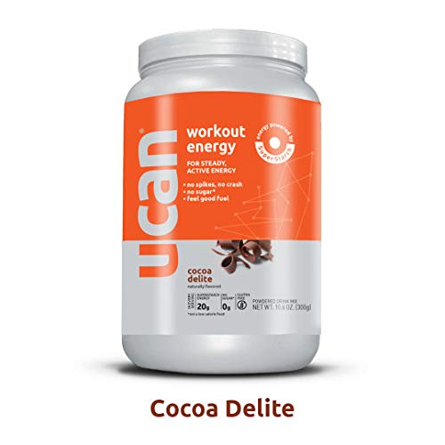 UCAN Pre Workout Energy Powder with SuperStarch – Vegan, Keto Friendly, Sugar and Gluten Free – No GI Distress, Maximum Endurance, No Bloating (12 Servings, Cocoa Delite)
