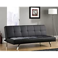 Sauder Cooper Straight Duraplush Sofacon, Black