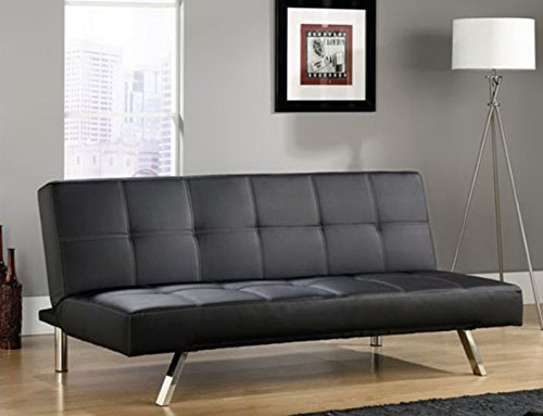 Sauder Cooper Straight Duraplush Sofacon, (Golden Oak Futon Frame)