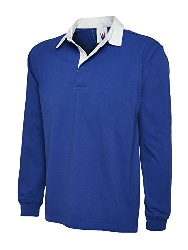 Uneek Clothing-Mens-Premium Rugby Shirt-330 gsm-Royal-3XL ()