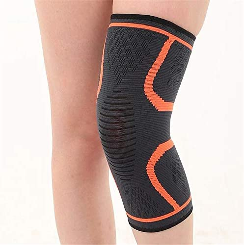 膝パッド 膝パッド、厚手スポンジ衝突回避ひざまずいてニーパッドアウトドアクライミングスポーツ乗馬プロテクター保護 (色 : オレンジ, サイズ : S)