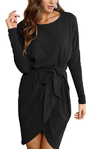 Ecowish - Vestido - para mujer negro