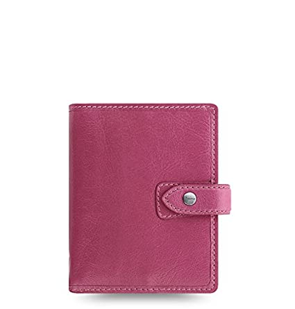 Filofax Malden Leather Organizer Agenda Calendar with DiLoro Jot Pad Refills (Pocket, 2019 Fuchsia, 026066-19)