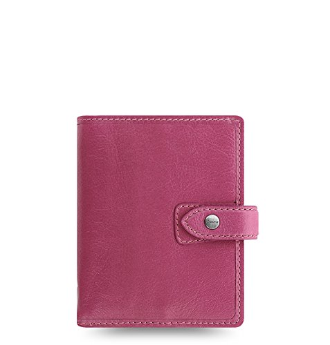 Filofax Pocket - Filofax Malden Leather Organizer Agenda Calendar with DiLoro Jot Pad Refills (Pocket, 2019 Fuchsia, 026066-19)