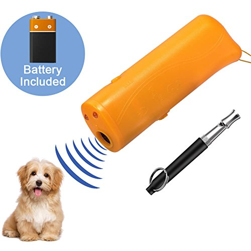 anezus Ultrasonic Dog Training Device, Battery Included 3 in 1 Anti Barking Repellent Dog Repeller