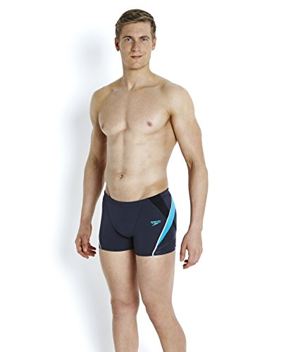 Speedo Fit Splice Short de Bain Homme, Gris, FR : 34 (Taille Fabricant : 34)