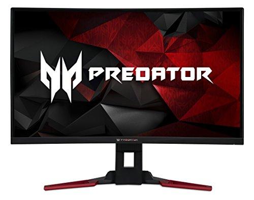 Acer Predator Z321QUbmiphzx 31.5 Inch WQHD Curved 1800R Gaming Monitor, Black (VA Panel, G-Sync, 144 Hz, 4ms, HDR Ready, ZeroFrame, DP, HDMI, USB Hub, Height Adjustable Stand)