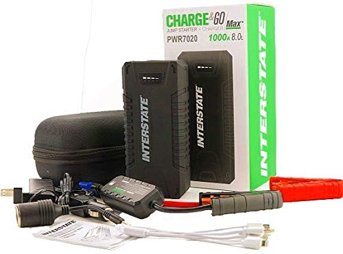 INTERSTATE CHARGE & GO MAX PWR7020 JUMP STARTER AND CHARGER 1000A 8.0L (Interstate Car Battery Charger)