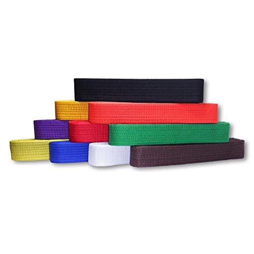 Kaizen Athletic100% Cotton Solid Rank Karate, Mixed Martial Arts, Judo, TaeKwonDo or Jiu-Jitsu Uniform Belts (Brown, (Martial Arts Uniform Belt)