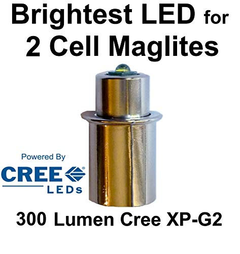 Maglite LED Conversion Upgrade Cree XP-G2 Bulb 2 D or C Cell Flashlights by UpLED