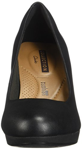 Viola Adriel Women's Clarks Leather Black Pumps qzHpwOREw