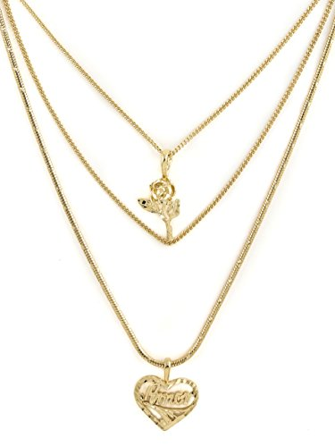 Vanessa Mooney Women's Cielo Rose & Amor Necklace by Vanessa Mooney