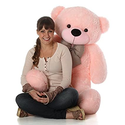 3b293ba1d Amazon.com  Giant Teddy Brand - 4 Foot Huge Cuddly Stuffed Animal for  Girlfriend (Cotton Candy Pink)  Toys   Games