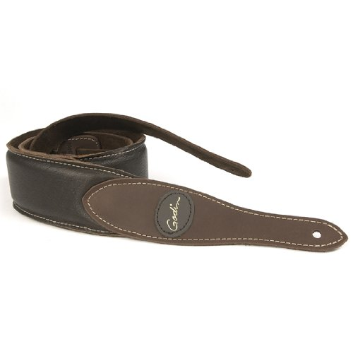 Godin Guitars 036998 Guitar Strap, Godin Brown Padded Leathe